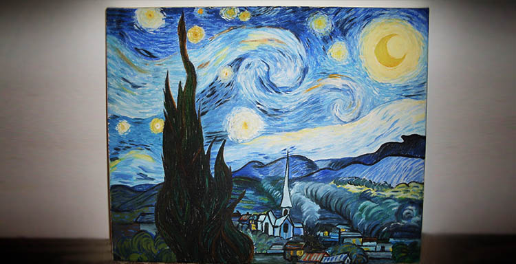 Starry Night Van Gogh SilverWolfPet Mihai Painting How to paint colors