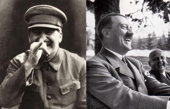 Hitler Stalin laughing smiling
